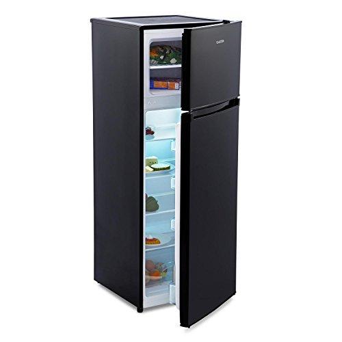 klarstein height cool black k hl gefrierkombination k hlschrank mit gefrierfach 41 liter. Black Bedroom Furniture Sets. Home Design Ideas