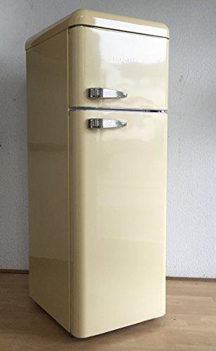 FIVE5Cents G215 / Kühlgefrierkombination / Creme Glänzend / Retro /  Kühlschrank / KÜHL GEFRIERKOMBINATION / Rippenlos