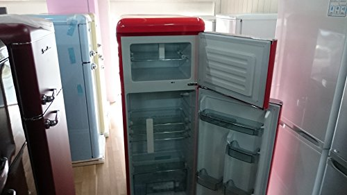 Retro Kühlschrank Gefrierkombination : ᐅ five cents g w kühlgefrierkombination ferrari rot
