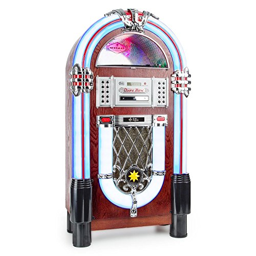 auna graceland tt jukebox retro musikbox bluetooth. Black Bedroom Furniture Sets. Home Design Ideas