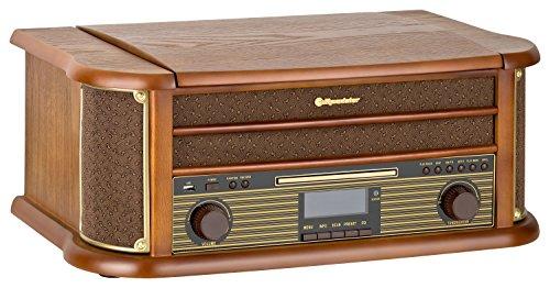 roadstar hif 1999 retro stereo anlage mit plattenspieler. Black Bedroom Furniture Sets. Home Design Ideas