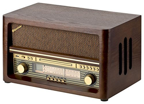 roadstar hra 1540 nostalgie retro radio mit bluetooth. Black Bedroom Furniture Sets. Home Design Ideas