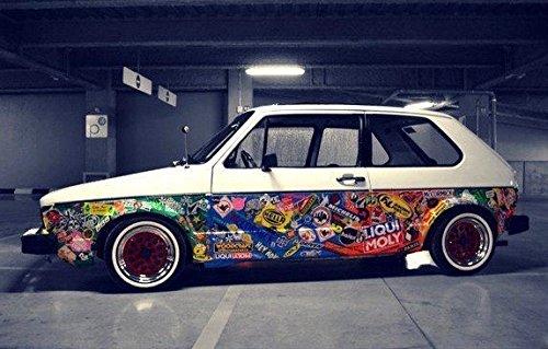 Stickerfactory Mega Mix Aus 50 Beste Graffiti Retro Sponsoren Aufkleber Stickers Für Autos Notebooks Koffern Laptop Skateboard Gepäck Gitarre