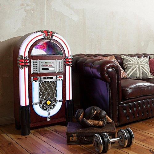 auna graceland tt jukebox retro musikbox bluetooth phono plattenspieler mp3 f higer cd. Black Bedroom Furniture Sets. Home Design Ideas